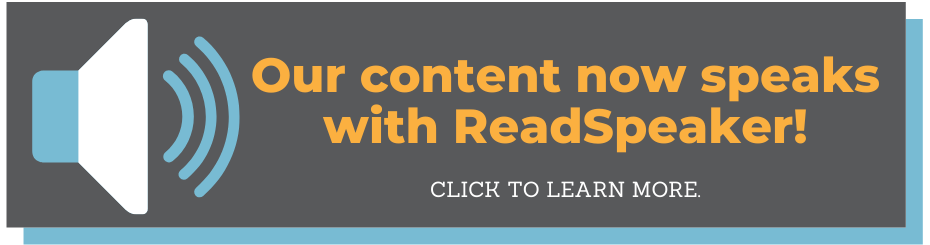 Our content now speaks wit ReadSpeaker. Click to learn more.
