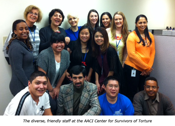 The diverse, friendly staff at the AACI Center for Survivors of Torture