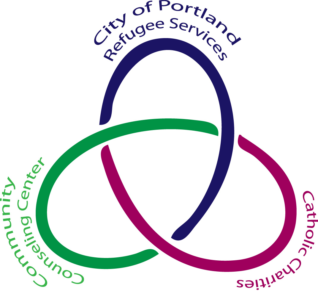 City of Portland Refugee Services, Community Counseling Center, and Catholic Charities all work together.